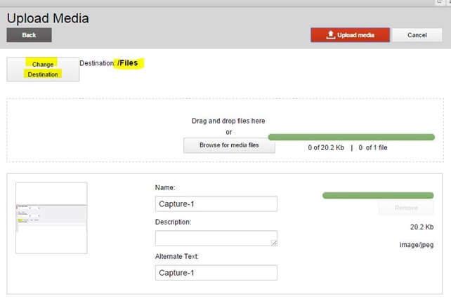 Upload media in Sitecore