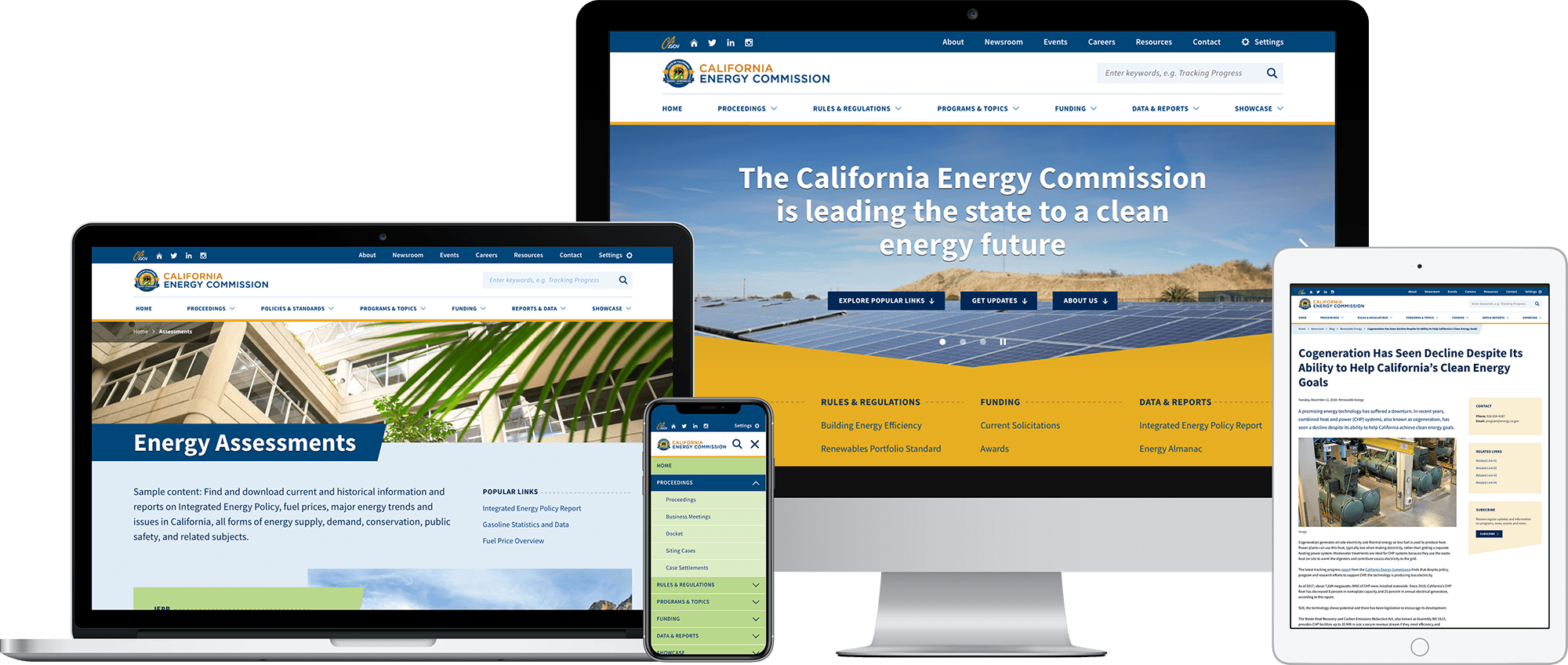 California Energy Commission responsive website powered by Drupal