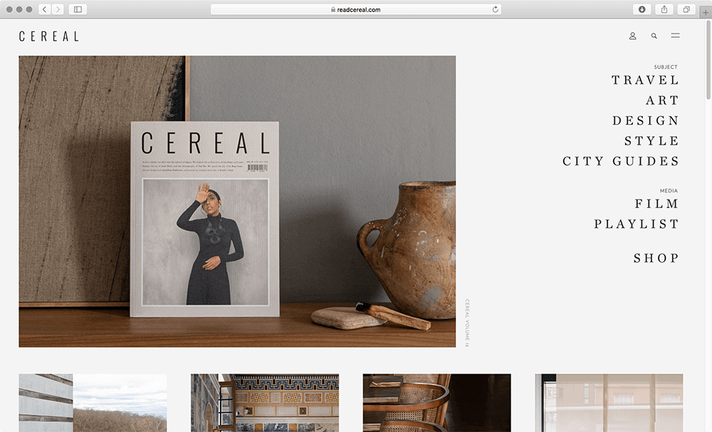 Read Cereal Website screenshot
