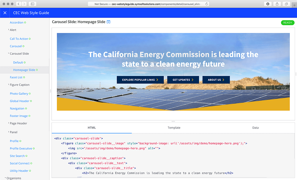 California Energy Commission Pattern Library