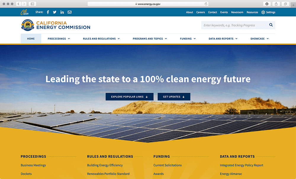 California Energy Commission Website