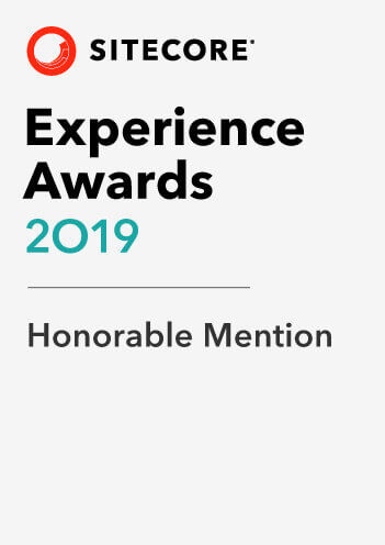 2019 Sitecore Experience Awards Honorable Mention