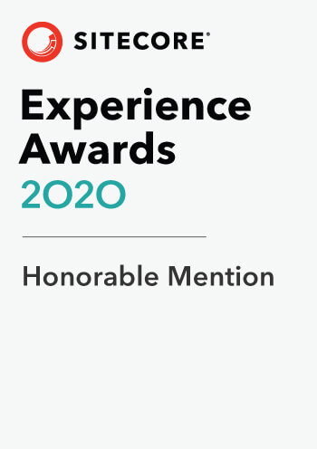 Sitecore Experience Awards 2020 Honorable Mention
