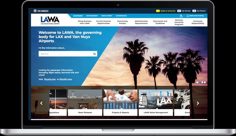 Screenshot of the LAWA website