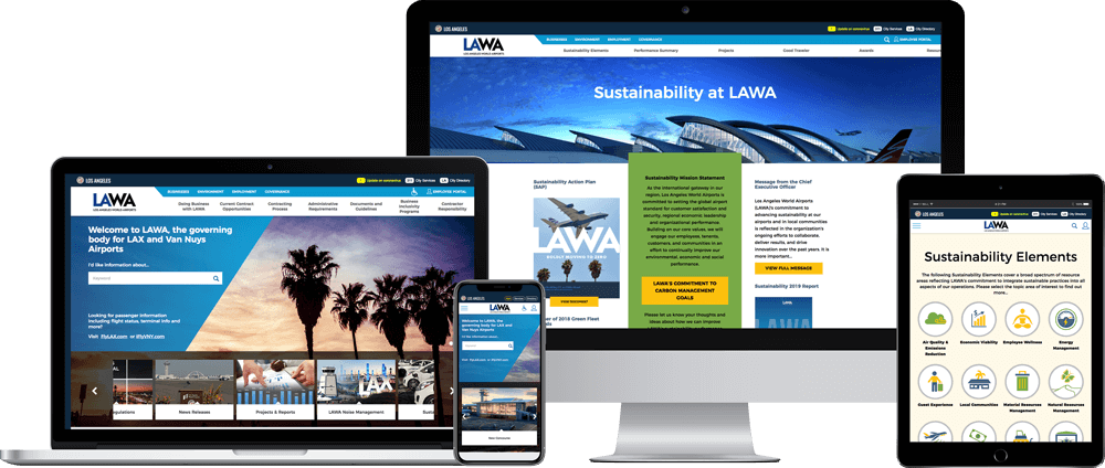 LAWA website on multiple devices