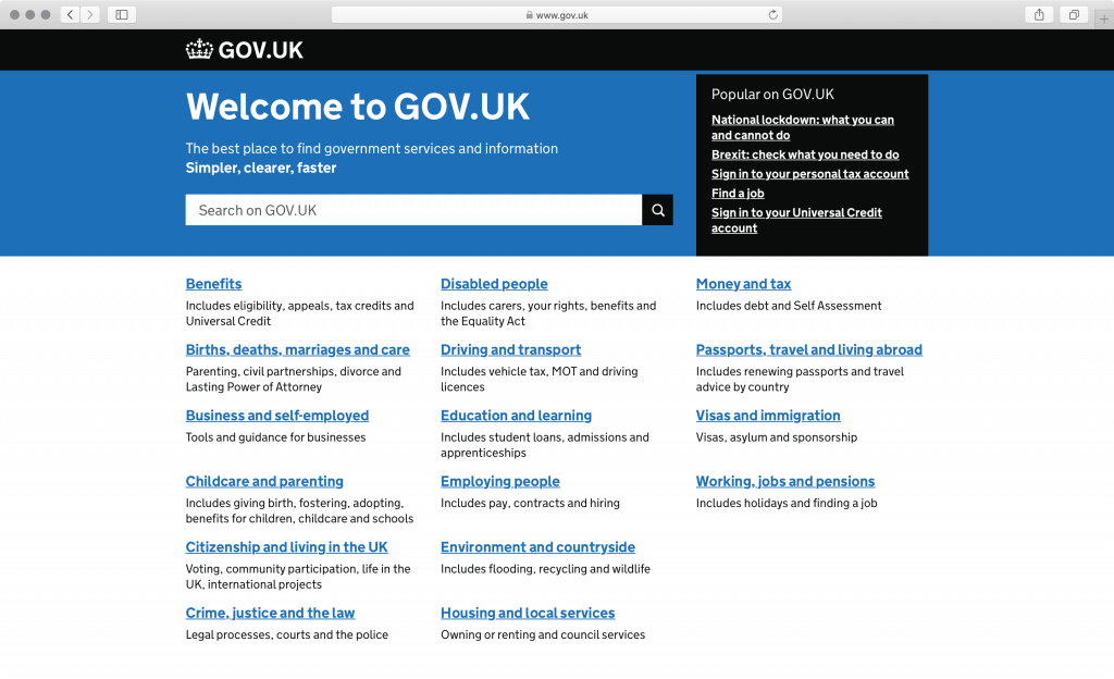 gov.uk screenshot