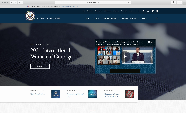 state.gov screenshot